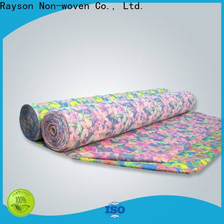rayson nonwoven Bulk purchase spunlace nonwoven fabric suppliers supplier for tablecloth