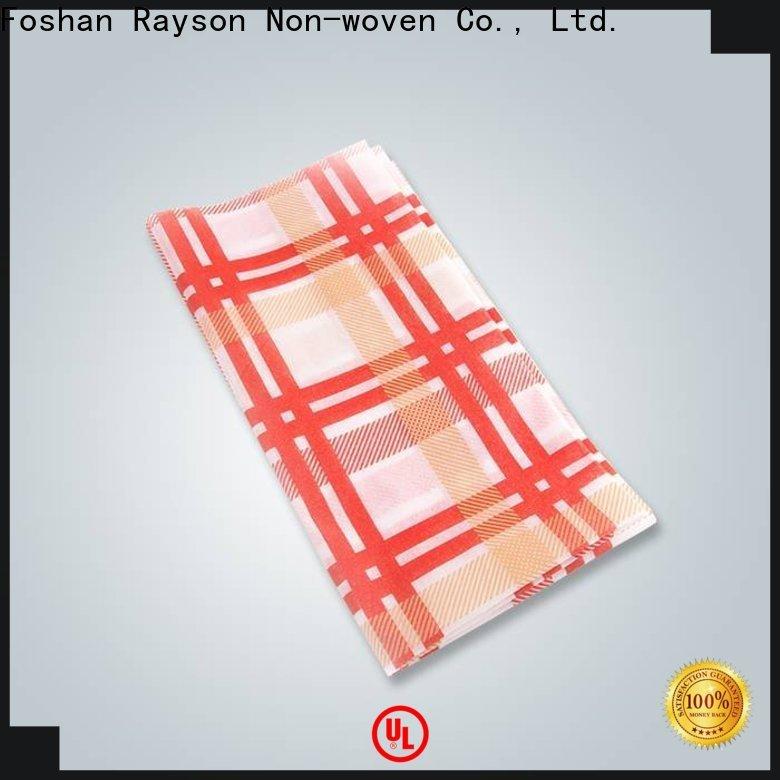 azienda di tovaglie stampate per hotel in tessuto non tessuto rayson per la casa