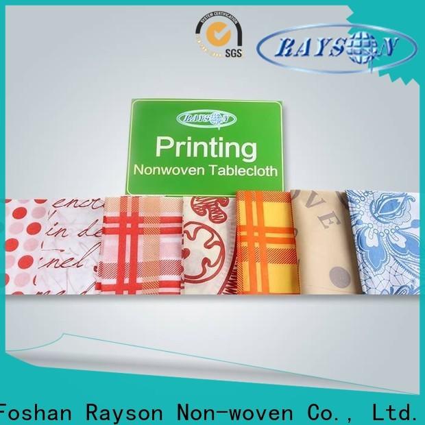 rayson non tessuto Prezzo all'ingrosso del materiale in polipropilene non tessuto per la tovaglia
