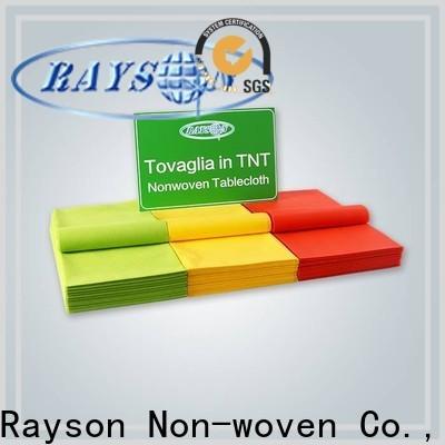 rayson الأقمشة المنسوجة الملونة غير المنسوجة بكميات كبيرة