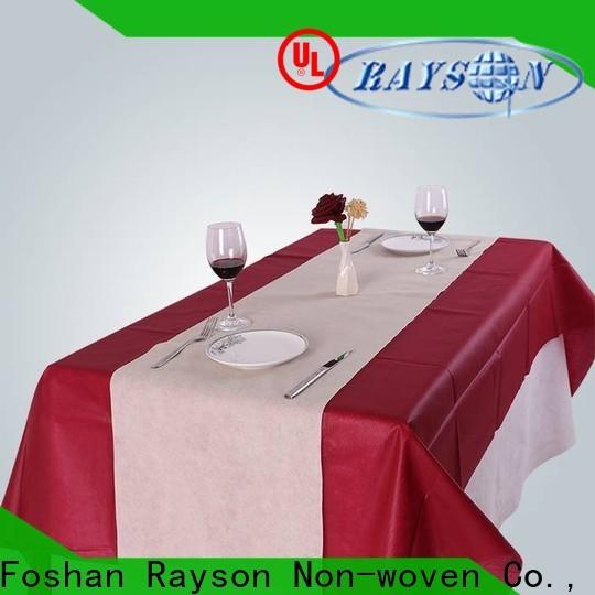 rayson محبوكة بالجملة شراء مفارش المائدة مصنع المملكة المتحدة