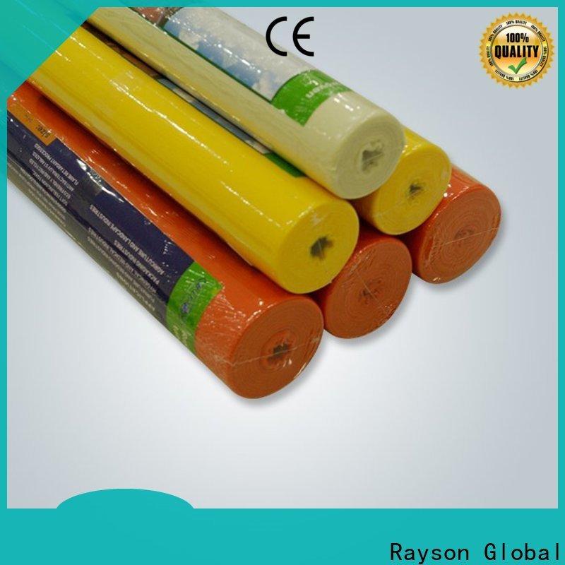 proveedor de mantel de pvc blanco no tejido de rayson