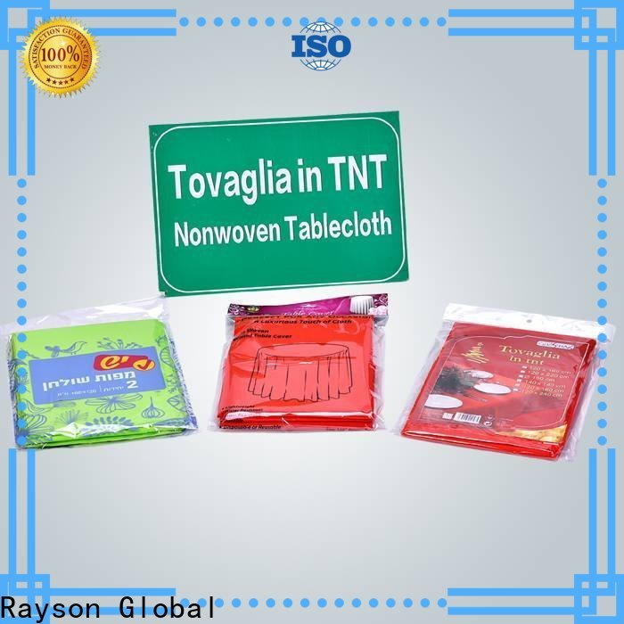 rayson nonwoven tnt non woven fabric table cloth manufacturer