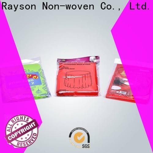 Rayson Nonwoven OEM de alta calidad No tejido no tejido Blanco Blanco Manteles cerca de ME Company