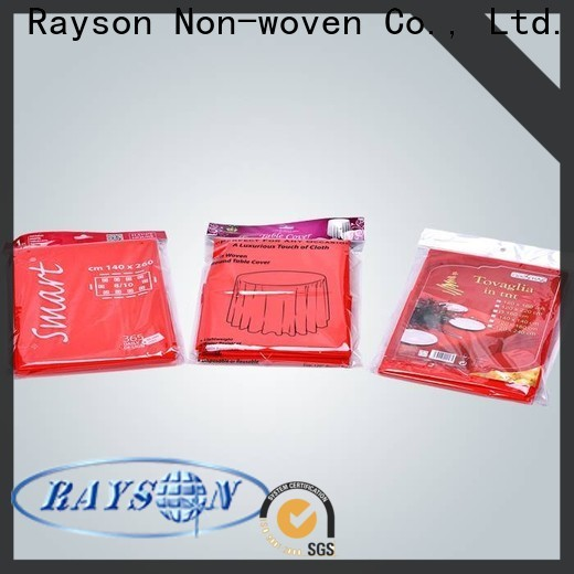 rayson nonwoven Wholesale high quality non woven disposable tablecloth for 20 inch round table factory