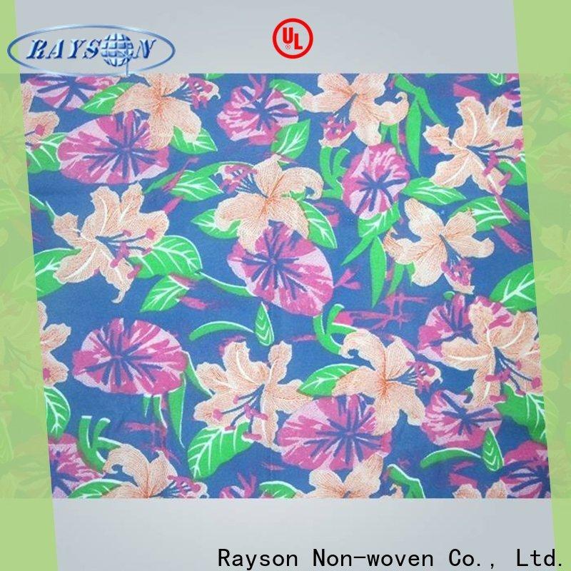 rayson nonwoven non woven printed fabric rolls supplier