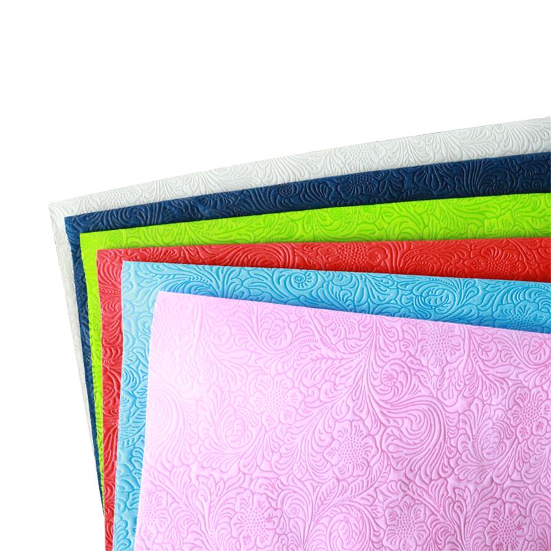 OEM Dostawca Dostawca Materiał do owijania kwiatów wytłaczane włókniny tkaniny w kolory różnorodności na sprzedaż-rayson włóknin