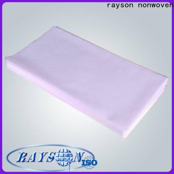 Rayson غير سائبة Buy OEM غير المنسوجة صالون السرير ورقة بالجملة