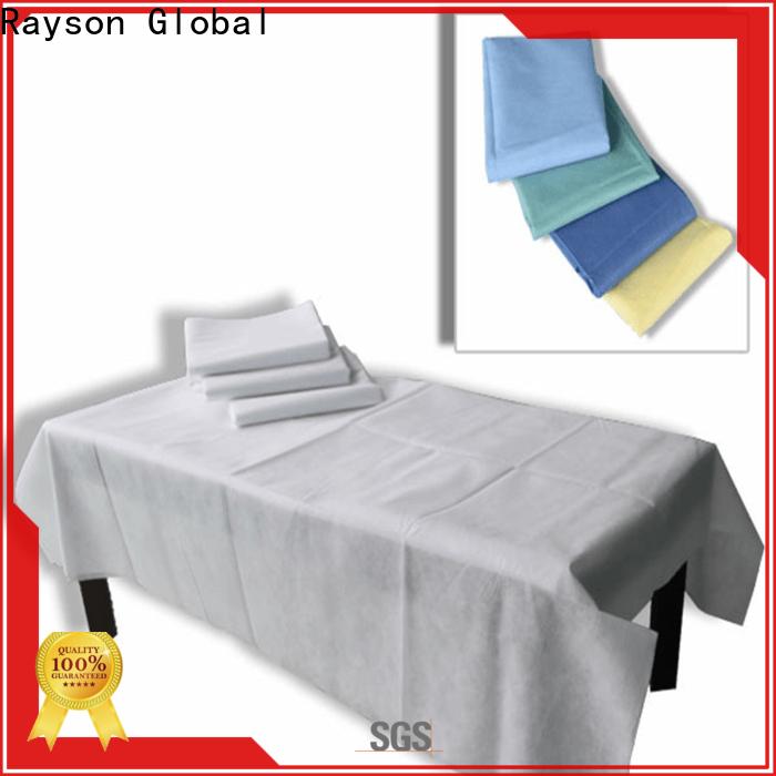 Rayson não tecido descartável lençóis de cama de hospital empresa