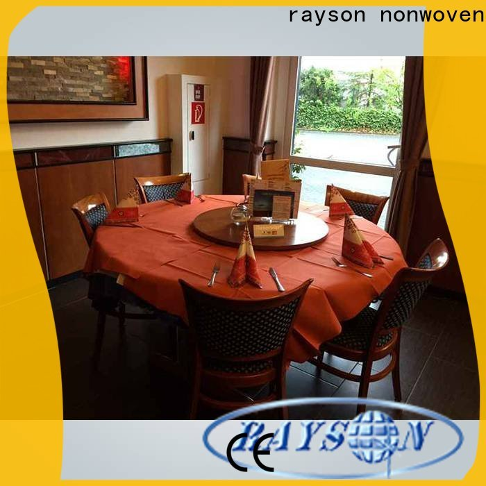 Rayson Nonwoven Round Accent Tablecloth شركة