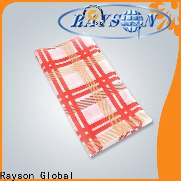 BUY BUY OEM NONWOVEN المتاح غطاء الجدول المخصص مع شعار الشركة المصنعة