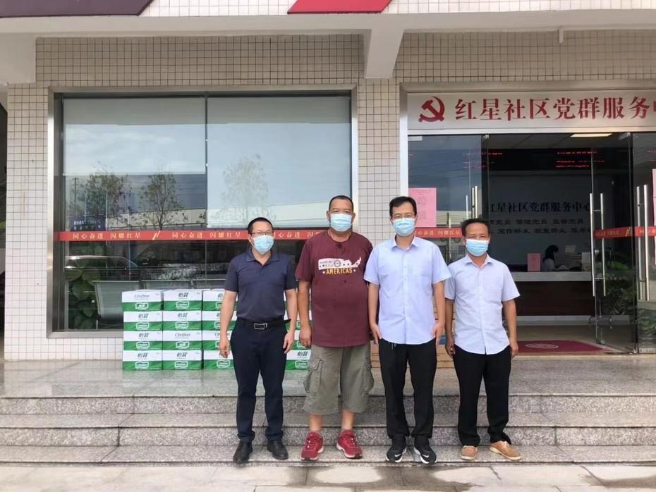 Rayson 회사는 난하이의 모든 사람들과 함께 전염병과 싸우고 있습니다.