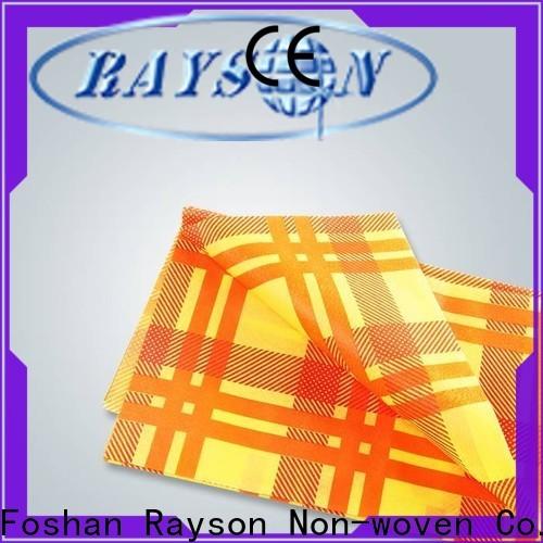 Rayson Nonwoven Bulk Compre OEM Manteles desechables no tejidos con logo impreso a granel