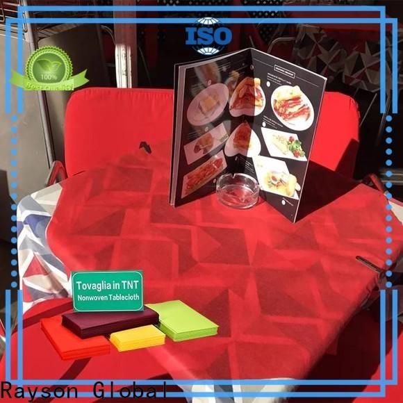 Rayson Nonwoven ODM no tejido disponible manteles personalizados Price