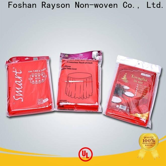 Rayson Hohe Qualität Vliesstoffe Einweg-Tischdecke Firma