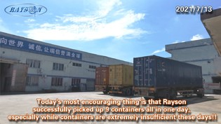 Rayson Had Picked Up 9 x 40HQ Containers All In One Day
