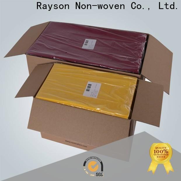 Rayson Nonwoven Custom ODM no tejido Manteles desechables agradables no tejidos a granel