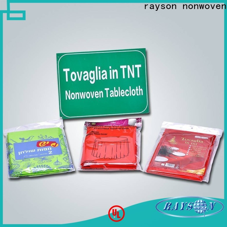 Rayson Nonwoven Wholesale Best Nonwoven Rose Gold Tabletable Mantel Compañía