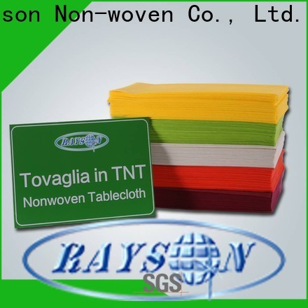 Rayson Nonwoven Rose Oro Desechable Mantel Compañía