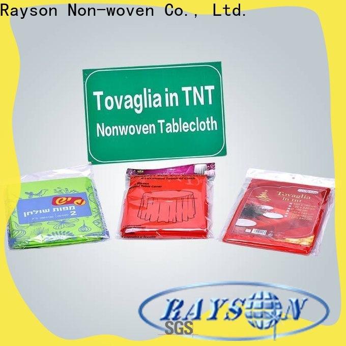 Rayson Nonwoven مخصص OEM NONWOVEN TNT TableCloth Company