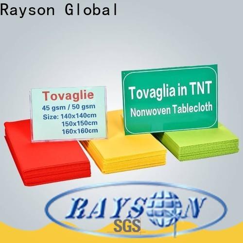 Rayson nonwoven rayson odm محبوكة tnt الجدول القماش المزود