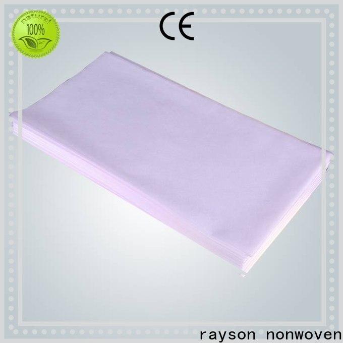 Rayson Nonwoven Bulk Compra il coperchio del foglio del letto del massaggio non tessuto ODM fornitore