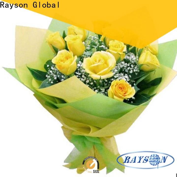 Rayson غير المنسوجة زهرة التفاف ورقة مصنع الجملة
