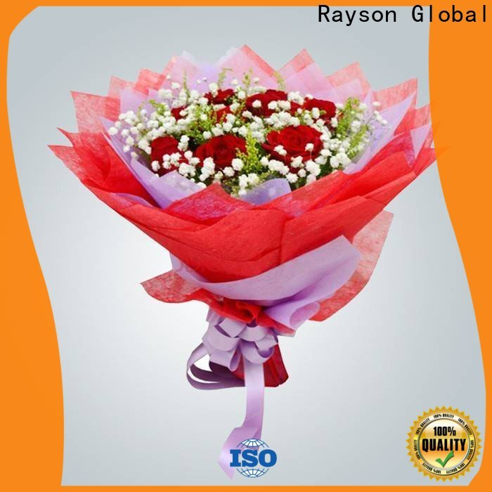 رايسون غير المنسوجة زهرة التفاف ورقة مصنع زهرة مصنع