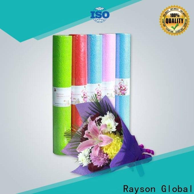 Il tessuto non tessuto non tessuto di Rayson rotoli in negozi di regali flower bulk