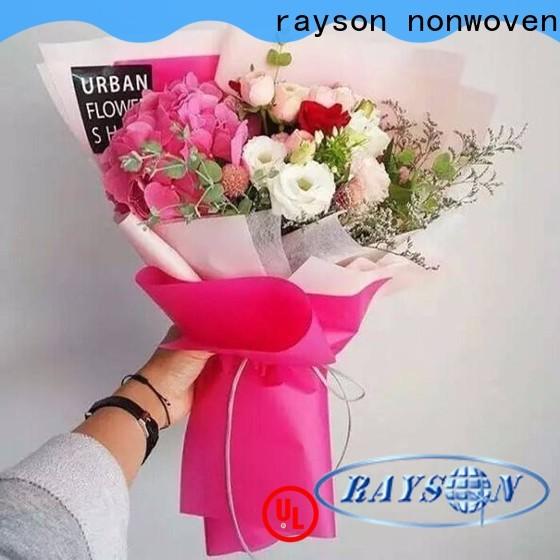 Rayson غير المنسوجة زهرة التفاف شركة الجملة