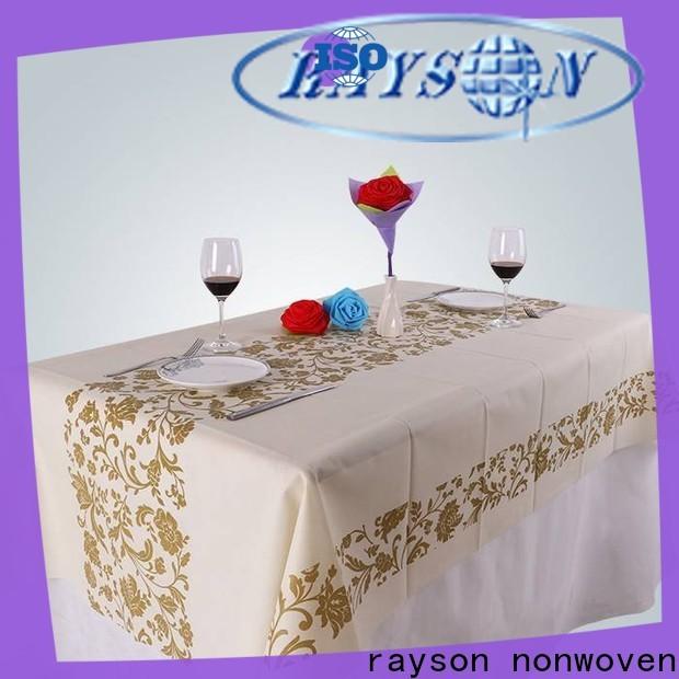 Rayson Vlies-Bulk Kaufen Sie ODM Nonwoven Custom Tischdecken günstigen Lieferanten