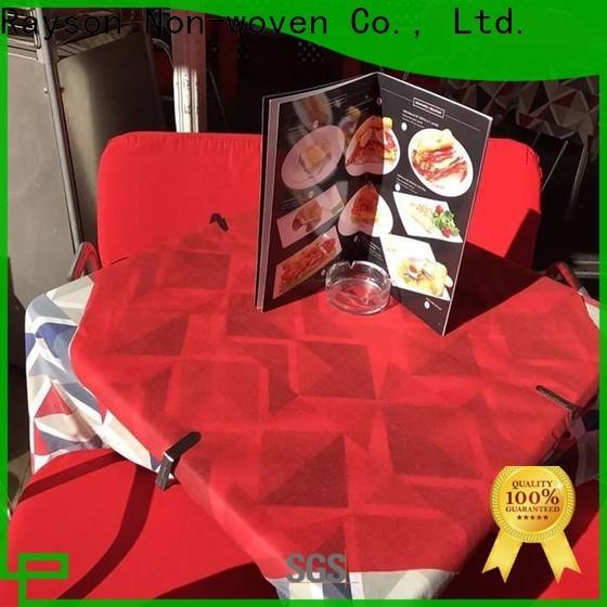 Rayson Voven-Großhandel Beste Vlies-Einweg-kundenspezifische Tischdecke mit Logo-Firma