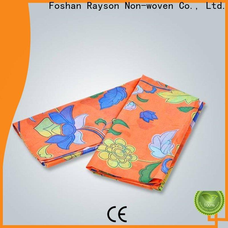 Fornitore all'ingrosso del tessuto di poliestere stampato non tessuto di Rayson
