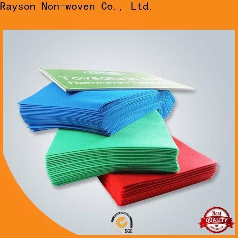 Rayson nonwoven a granel comprar melhor tablecloths descartáveis não tecidos em massa fábrica