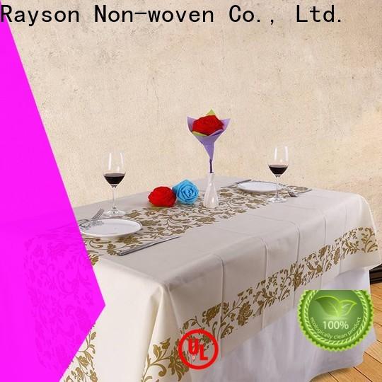 Rayson Nonwoven Borgonha Tablecloth descartável fabricante