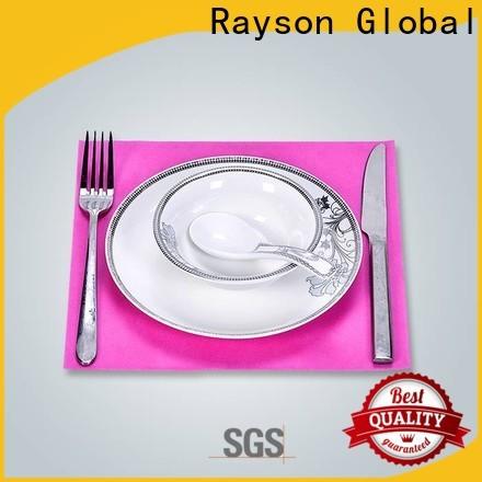 Rayson Nonwoven Melhor Tablecloths Descartáveis Fabricante