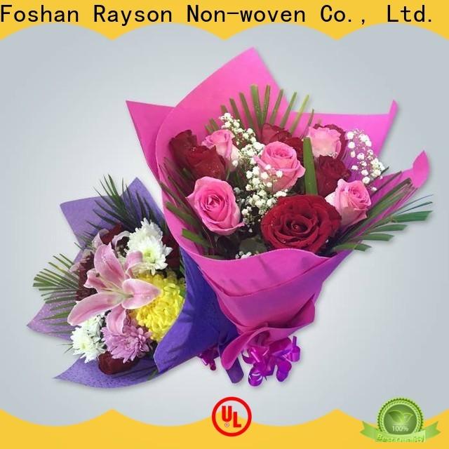 Rayson Nonwoven مخصص ODM غير المنسوجة ورقة الأنسجة