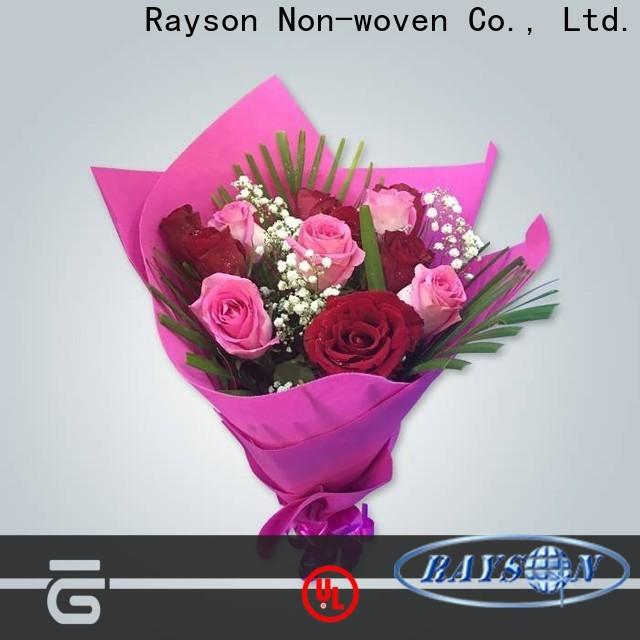 Mercado de flores de precios no tejidos de Rayson no tejido