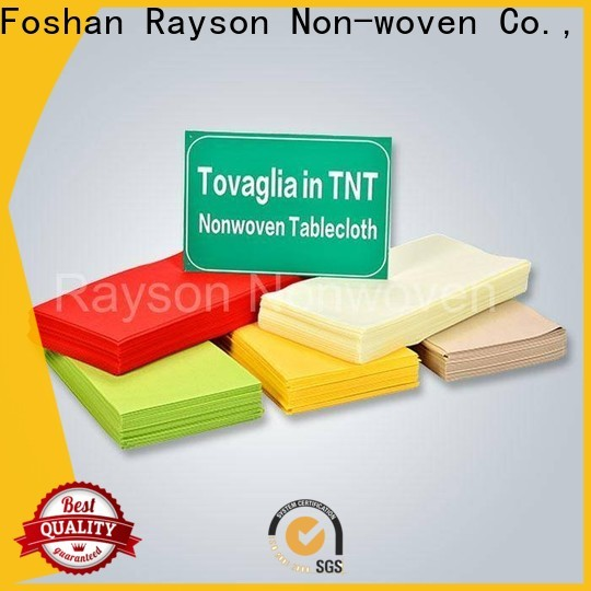 Rayson Nonwoven Rayson de alta calidad Nonwoven Table Paño Desechable Empresa