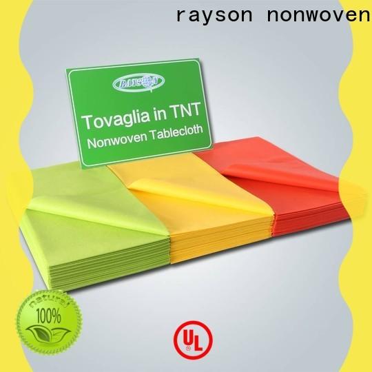 Manteles desechables no tejidos Rayson fabricante a granel