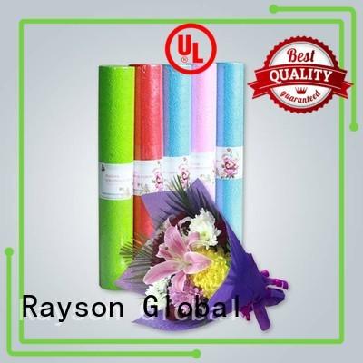 rayson nonwoven,ruixin,enviro Brand gsm pattern flushable non woven polypropylene manufacture