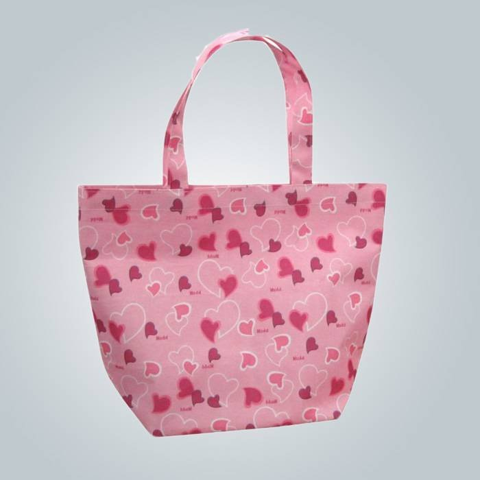 पारिस्थितिकी - अनुकूल पॉलीप्रोपीलीन गैर बुना शॉपिंग बैग मुद्रण पैटर्न के साथ