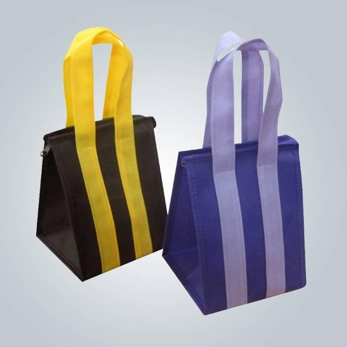 Benutzerdefinierte Öko Werbeartikel lange Griff PP nicht gewebt-Tasche mit Reißverschluss