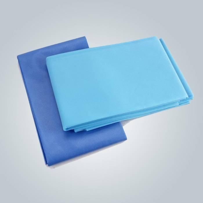 Fabbrica di fatto a buon mercato igienico dolci lenzuolo per massaggi Spa usando colore blu