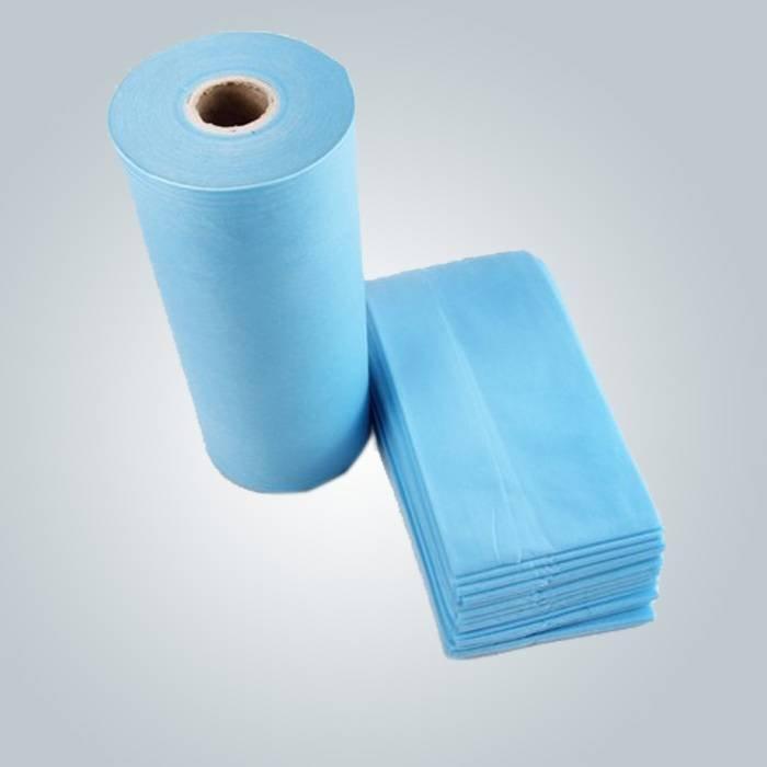 Colore blu medica SMS spunbond nonwoven ampiamente utilizza nella produzione di vestiti medici