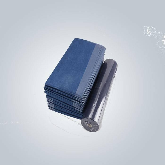 وظيفة مضاد للجراثيم اللون الأزرق مغلفة غير المنسوجة النسيج المستخدمة لملاءة