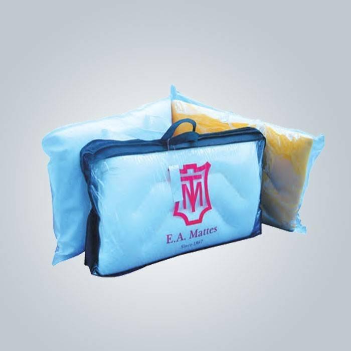 Cobertura de travesseiro não tecido de reutilizável ecológica de 70gsm com logotipo