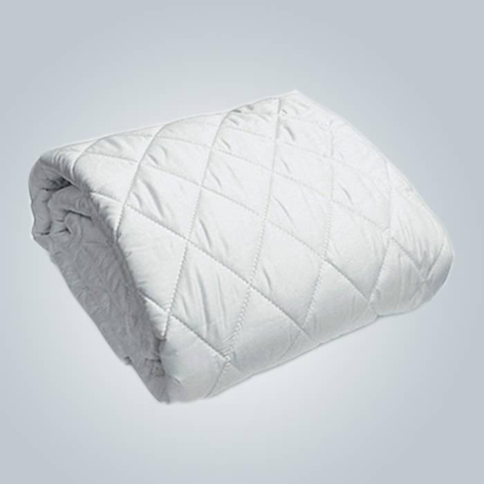 Funda de colchón de algodón Terry rizo punto rey tamaño bambú chinche