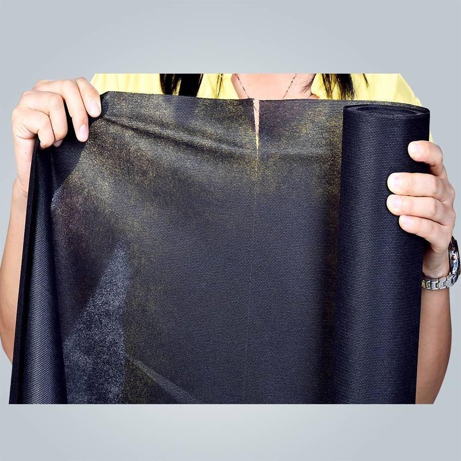 100 % Plyester schwarz Spunbond Vliesstoff Stoff Lieferant