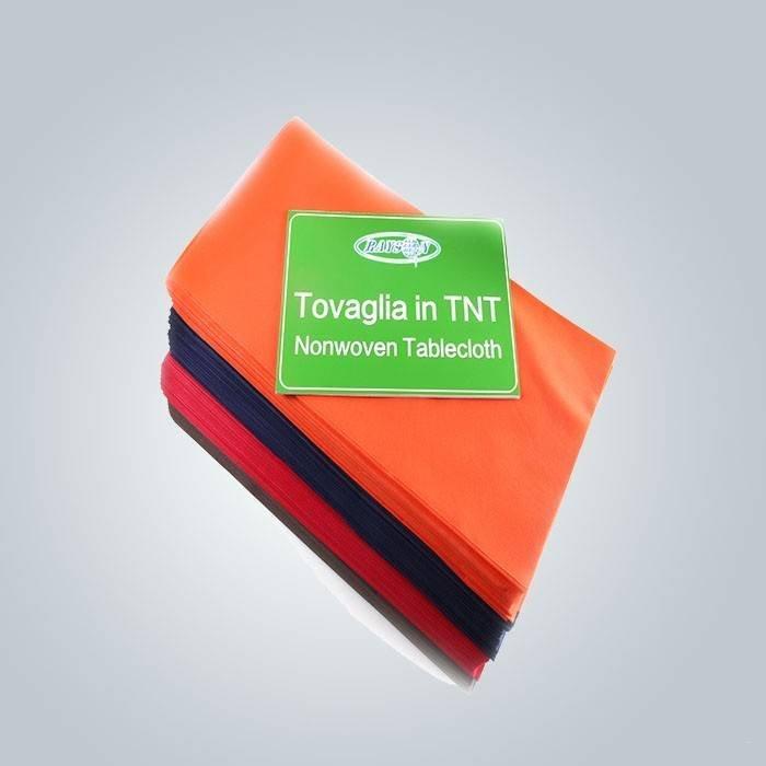 Diverso color del examen personalizado 38g a 70 g Dinning mantel no tejido de la tela